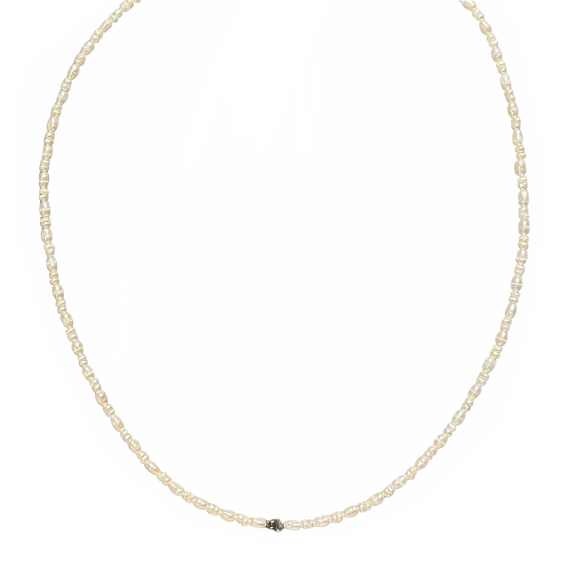 Collier perles de culture diamants bruts