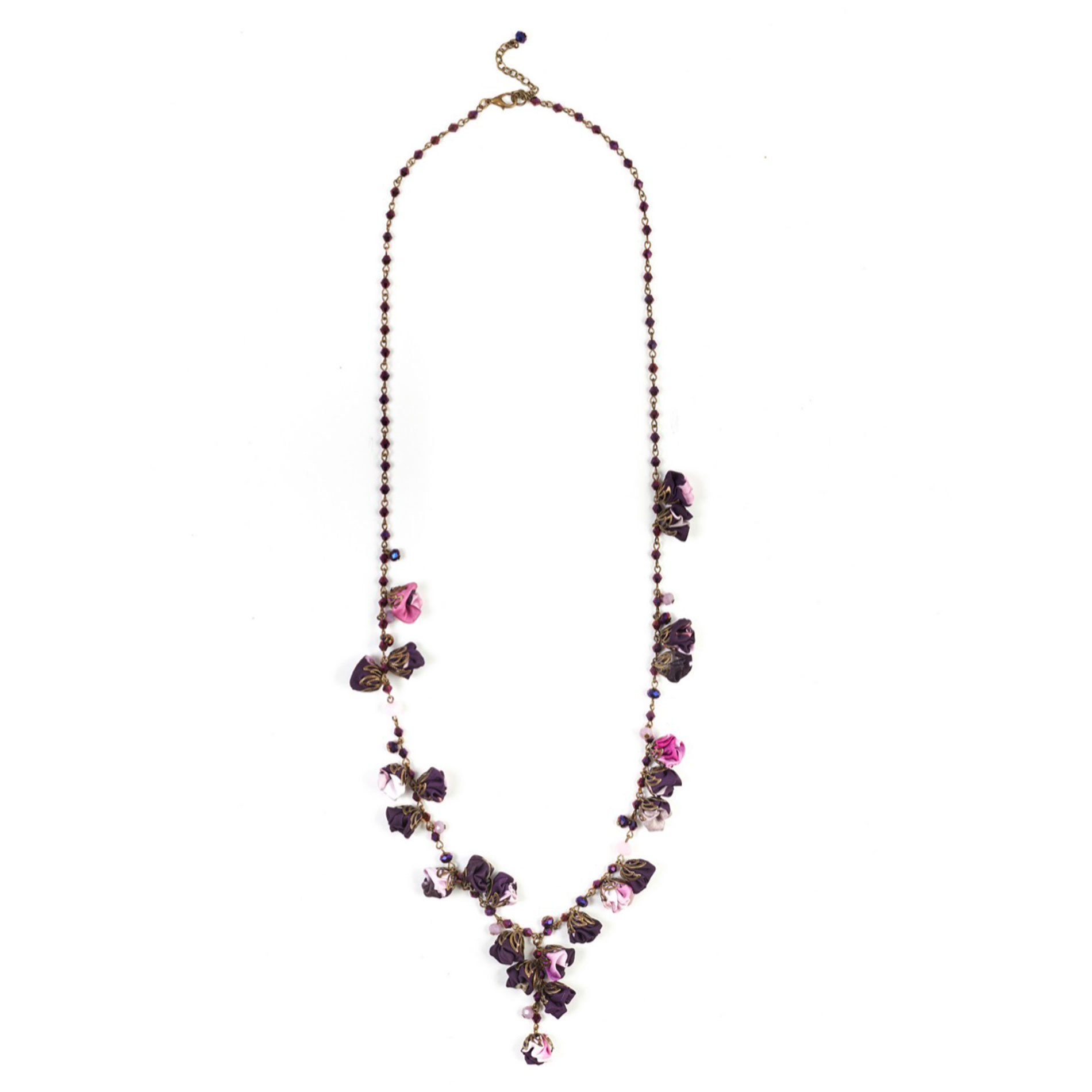 Collier June en Soie aquarelle