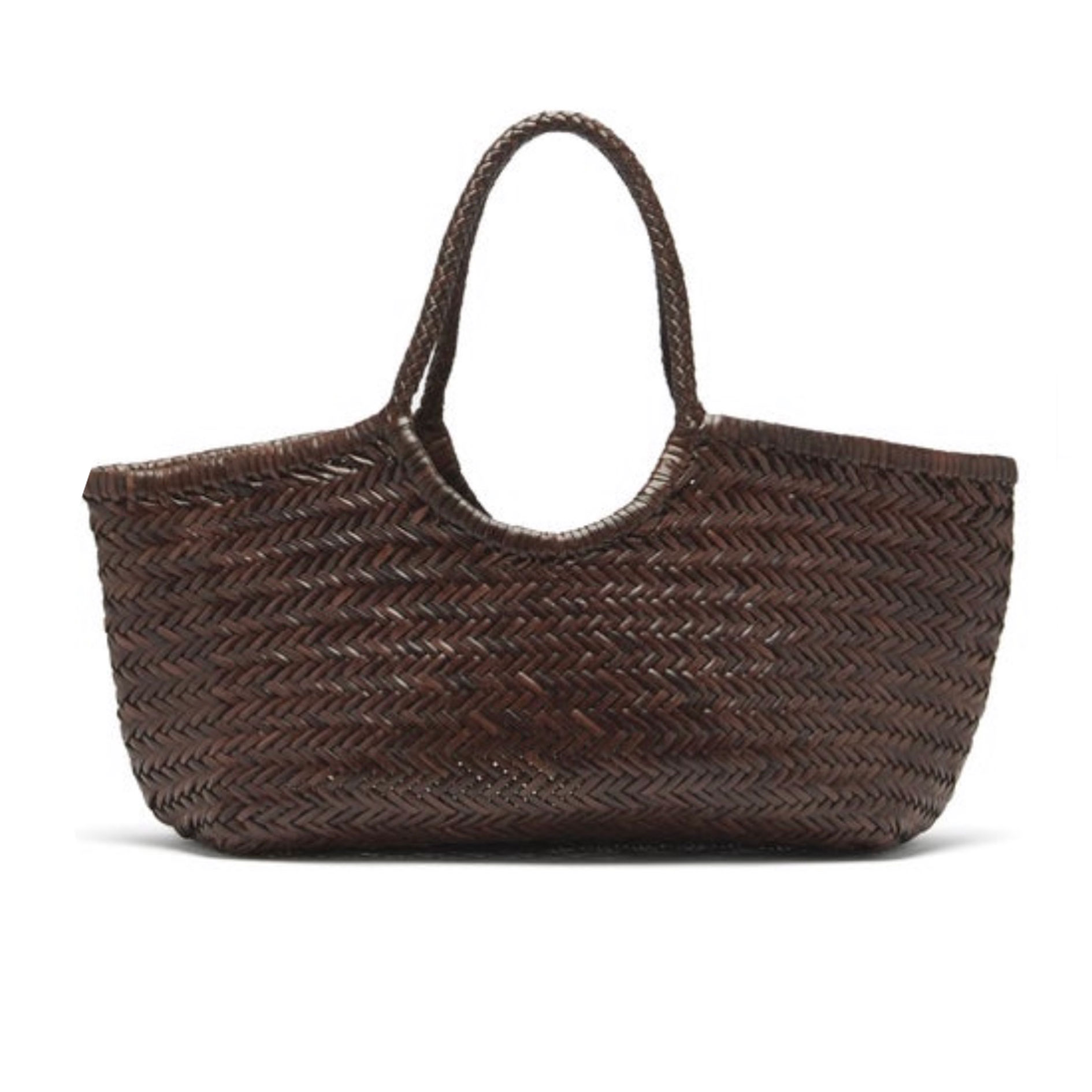 Sac shopping Nantucket cuir marron