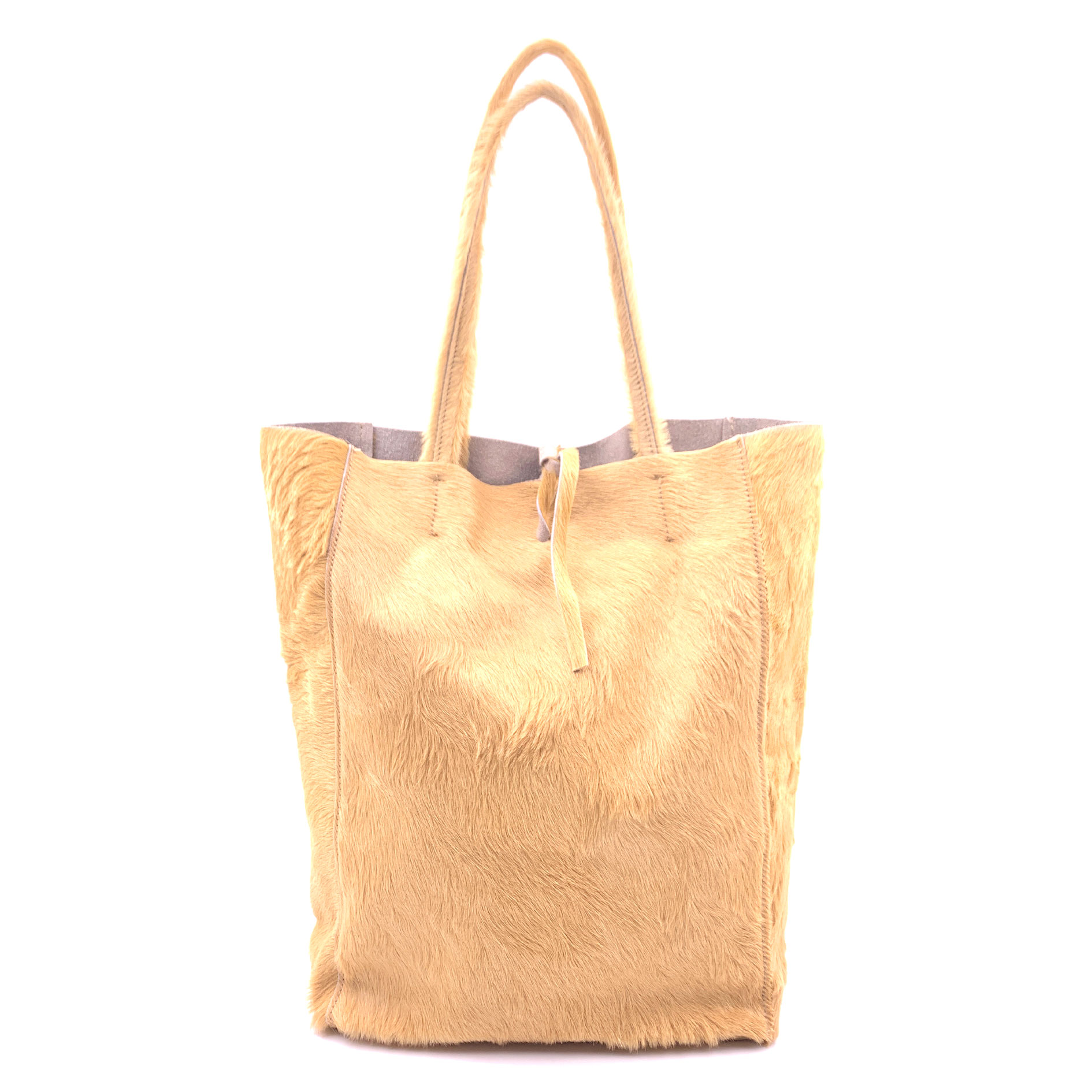 Sac shopping poil de poney
